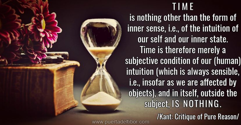 Time is nothing (Kant)