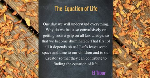 The Equation of Life